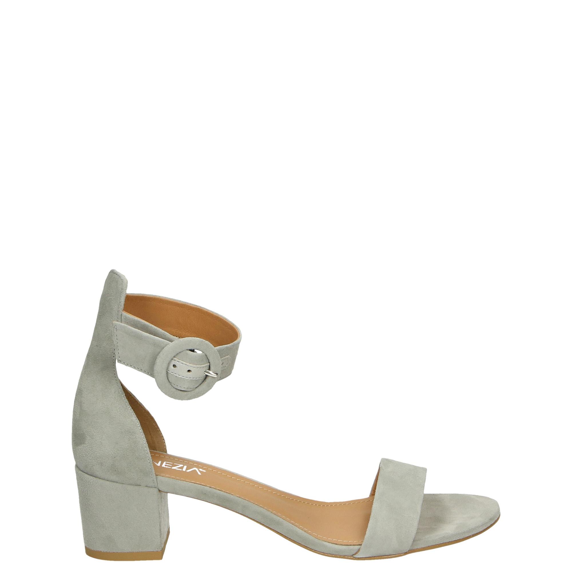 cb9ebd2c9bc6e8 sandały venezia szare sandały zapinane na kostkę - 1713 cam cene - venezia