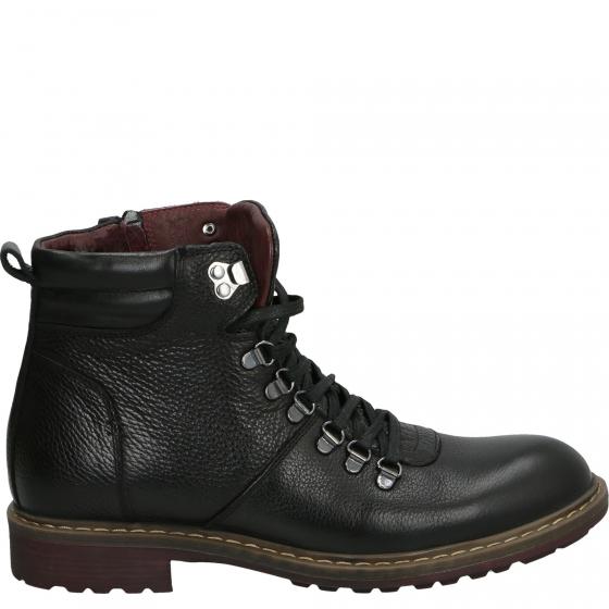 Skorzane Trapery Meskie 7241 Leath Black