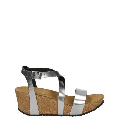 Venezia klapki sandały na koturnie ze skóry 38